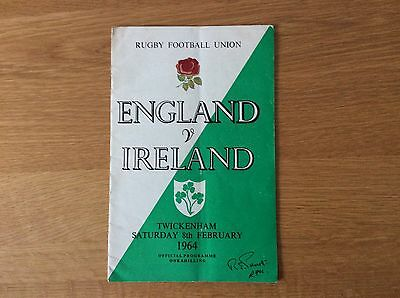 1964 England v Ireland .   Rugby Union International Match