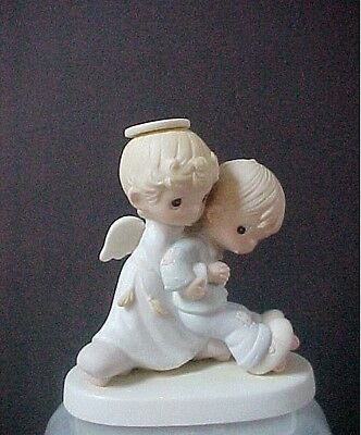 Precious Moments figurine He Upholdeth Those Who Call E-0526 w/box, fish mark