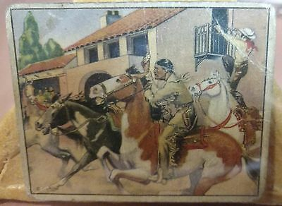 Original Lone Ranger Trading Card #3 Tonto's Race with Death