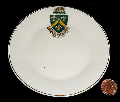 Goss Crested China Side Sandwich Plate Man Of Ross Crest Arms