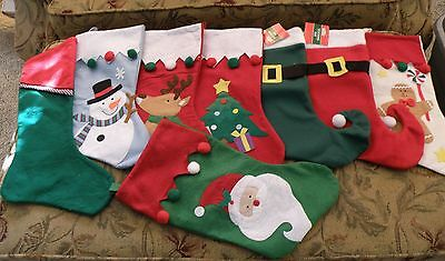 Large Christmas Stockings Lot of EIGHT Some NWT