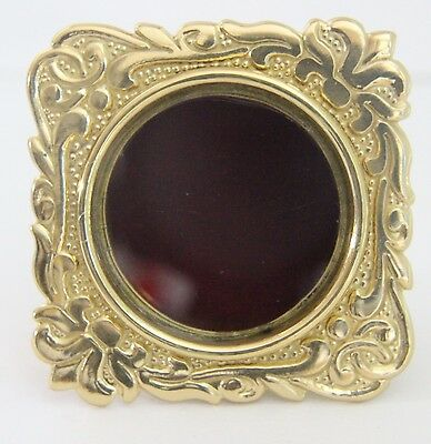 Reliquary / Theca Round Personal Solid Brass Relic Holder