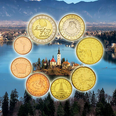 [#92460] Slovenia, 1 Cent to 2 Euro, 2007, MS(65-70)