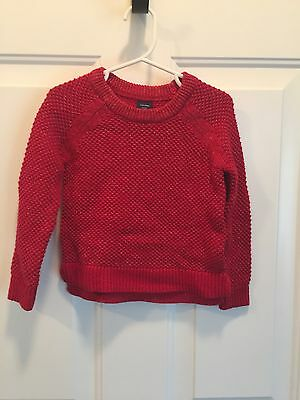 Toddler Girls Baby Gap Red Sparkle Sweater Sz 3T