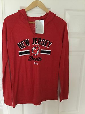 NEW JERSEY DEVILS - ICE HOCKEY - LADIES HOODED TOP -  - Size Medium