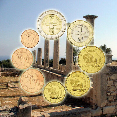 [#92462] Cyprus, 1 Cent to 2 Euro, 2014, MS(65-70)