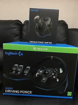 New Logitech G920 Driving Force Racing Wheel And Shifter For Xbox One And PC