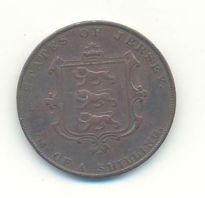 Very Nice Rare.jersey.1/13/of A Shilling.1841.very Collectable.a.98