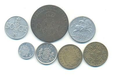 Very Nice Rare.mixed Lot Of Spain Coins.very Collectable.a.122