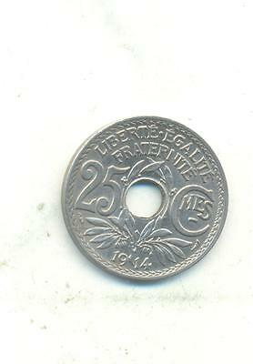 Very Nice Rare.france.25.centimes.1914.unc/bu.very Collectable.k.01