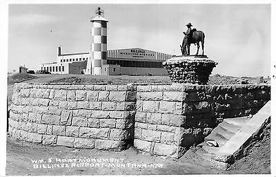 RPPC ~ Billings, MONTANA ~ William S. Hart Monument ~ Billings Airport ~ KFR