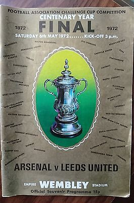 Arsenal v. Leeds United - FA Cup Final Programme 6th May 1972