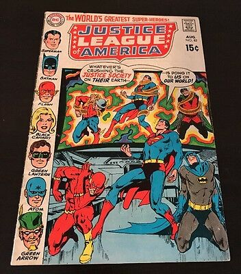 Justice League Of America #82 Vg/fn 1St App Golden Age Batman Dc Silver Age