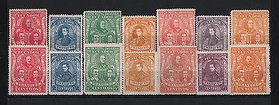 Ecuador 1896 Success Of Liberal Party On 1845 & 1895 Authentic & Fake Sc# 63-69