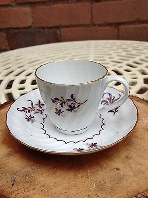 Antique 18th Century Worcester (Flight & Barr Period) Coffee Cup and Saucer