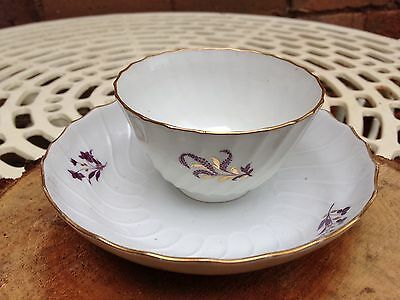 Antique China 18th Century Worcester (Flight & Barr Period) Tea Bowl and Saucer