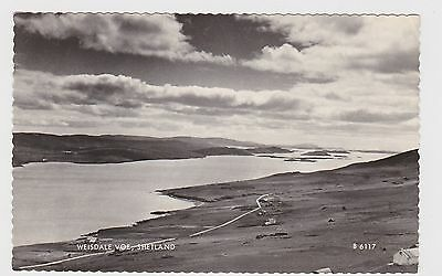 Great Real Photo Card Of Weisdale Voe Shetland Islands Around 1950