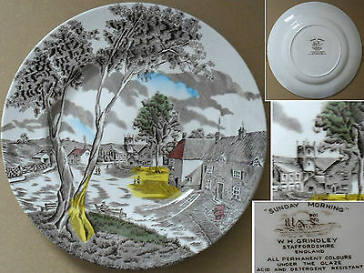 W H Grindley Sunday Morning Plate Staffordshire England