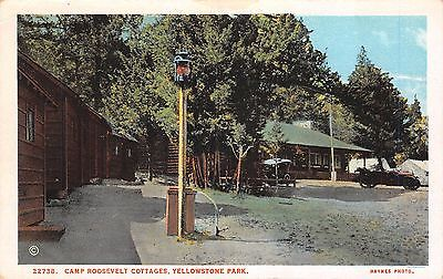 Yellowstone National Park, WYOMING ~ Camp Roosevelt Cottages ~ J.E. Haynes