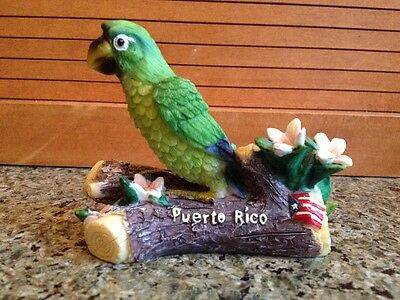 Puerto Rico Souvenir Parrot perched on a Log - Holder