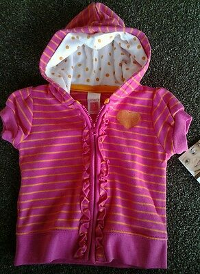 Baby Girl Carters Short sleeve hooded top size 3mths BNWT