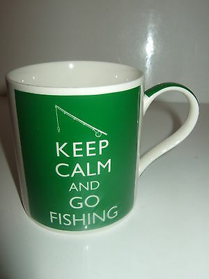 Drinking Mug Detailed As Keep Calm And Go Fishing