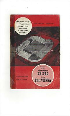Manchester United v First Vienna Friendly 1962/63 Football Programme