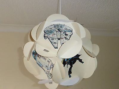 Vintage Star Wars Empire Strikes Back Card Lampshade