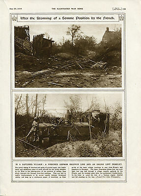 """1916 WW1 Original Print: """"After the Storming of a Somme Position by the French."""""""