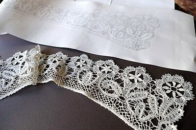 PATTERN for V Collar  Russian Vologda Lace Full size.