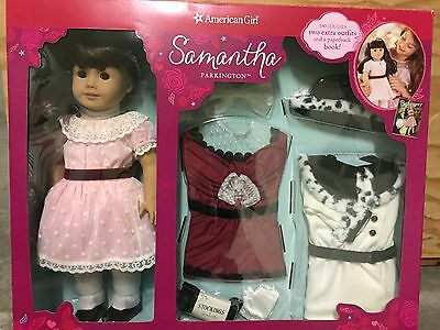 American Girl Doll Samantha Special Holiday Set With 3 Outfits + Book Bonus! NEW