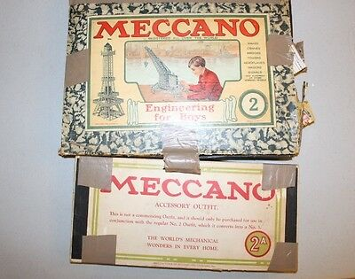 2 Vintage Meccano Engineering Sets  Made In England