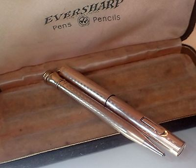 Vintage Eversharp Wahl Boxed Set - Rolled Gold C.1930 - Serviced / Excellent