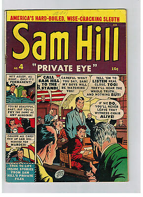 SAM HILL PRIVATE EYE COMIC No. 4 from 1951