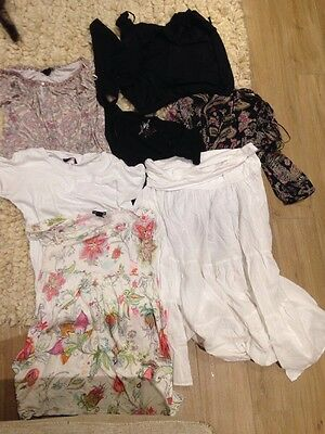 Summer Maternity Clothes Bundle Size L M 14 12 Debenham Mama H&M Red Herring