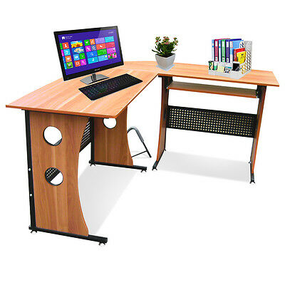 L-shape Corner Computer PC Desk Office Home Writing Workstation Sturdy Furniture