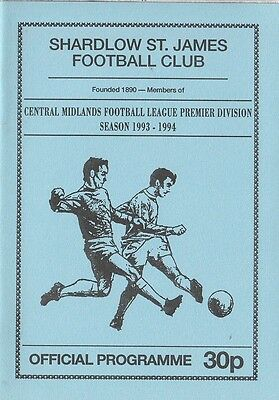 Shardlow St James - Thorne Colliery - Central Midlands League - 26/3/94