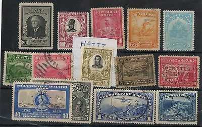 D'Haiti1 Stock card nice lot of stamps Mint and Used