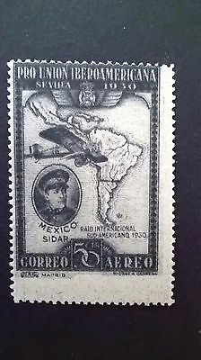 1930 - Spain to South America 50 cent Airmail service stamp - mint not hinged .