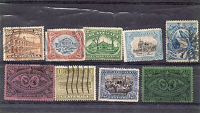 Guatamal 1 Stock card nice lot of stamps Mint and Used