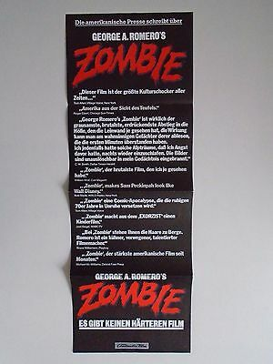 Zombie Dawn of the Dead George A Romero German Poster - Funny Walt Disney Quote.