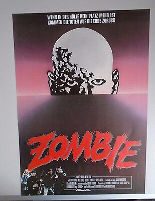 Zombie Dawn of the Dead George A Romero Rare rolled German poster - style A