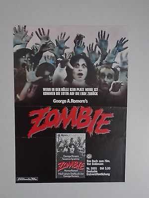 Zombie Dawn of the Dead George A Romero small German Poster.