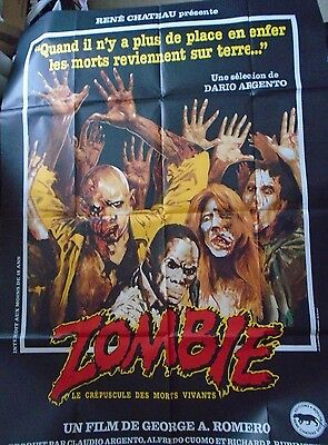 "Zombie Dawn of the Dead George A Romero Large French poster 63"" x 47"" approx."
