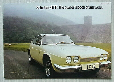 RELIANT SCIMITAR GTE Car Sales Brochure Sept 1973