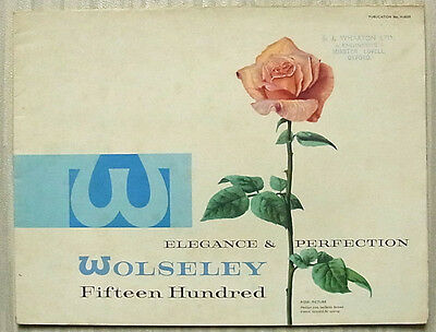 WOLSELEY FIFTEEN HUNDRED 1500 Car Sales Brochure May 1960 #H6029