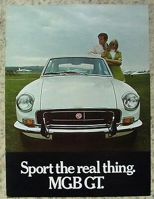 MG MGB GT Sports Car Sales Brochure c1969 #2725