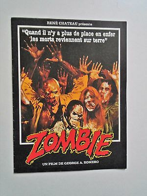 Zombie Dawn of the Dead George A Romero French Press book - 16 pages all colour.
