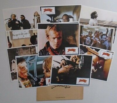 Zombie Dawn of the Dead George A Romero complete French LobbyCard set + envelope