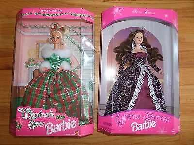 """""""2"""" Holiday Barbies/winter Fantasy + Winter's Eve!"""
